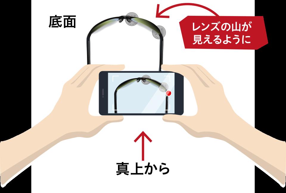 下面からの撮影