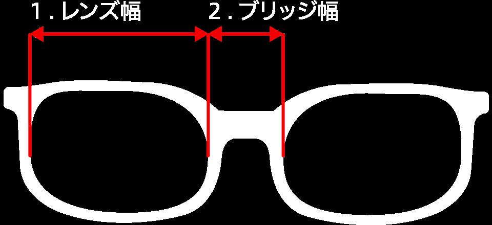 レンズ幅ブリッジ幅