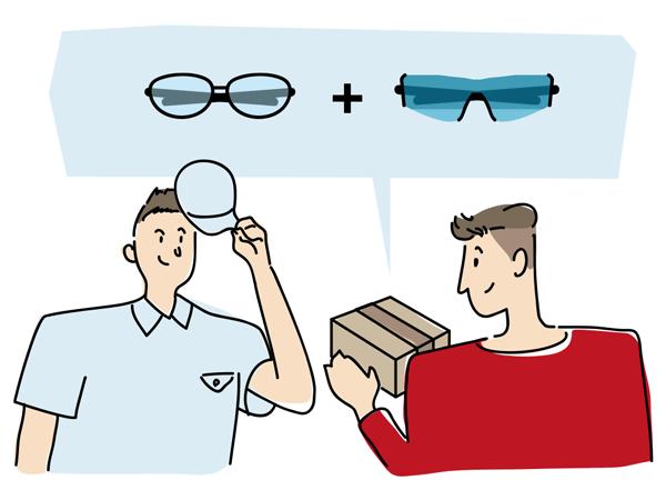 メガネを送付する